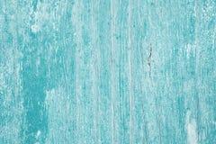 Fundo pintado de madeira velho na cor de turquesa foto de stock