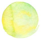 Fundo pintado do círculo aguarela abstrata Fotos de Stock Royalty Free