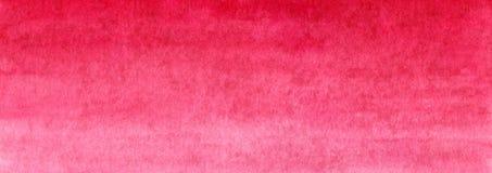 Fundo pintado feito a mão vermelho do inclinação da aquarela da bandeira da Web no papel textured ilustração do vetor