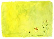 Fundo pintado música Ilustração do Vetor