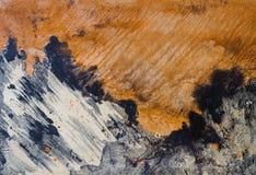 Fundo pintado petróleo Montanha Foto de Stock Royalty Free