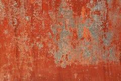 Fundo pintado velho marrom vermelho da parede do Grunge Fotos de Stock Royalty Free