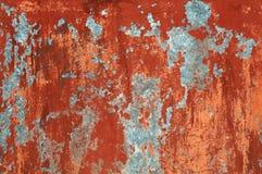 Fundo pintado velho marrom vermelho da parede do Grunge foto de stock