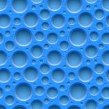 Fundo plástico pontilhado sem emenda azul ilustração royalty free