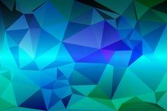 Fundo poli dos tamanhos aleatórios roxos do azul de turquesa baixo ilustração do vetor