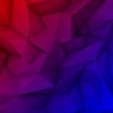 Fundo poligonal abstrato Ilustração Stock