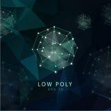 Fundo poligonal abstrato Baixo projeto poli Foto de Stock