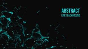 Fundo poligonal abstrato com pontos e linhas de conex?o Fundo da tecnologia da conex?o ilustração do vetor