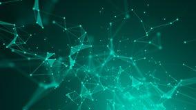 Fundo poligonal abstrato do espaço com pontos e linhas de conexão Imagem de Stock Royalty Free
