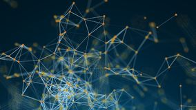 Fundo poligonal abstrato do espaço com pontos e linhas de conexão Fotografia de Stock Royalty Free