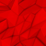 Fundo poligonal abstrato vermelho Ilustração Stock