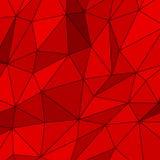 Fundo poligonal abstrato vermelho Ilustração do Vetor