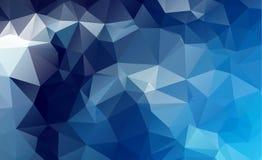 Fundo poligonal claro azul do mosaico, ilustração do vetor, ônibus Imagem de Stock Royalty Free