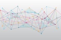Fundo poligonal colorido abstrato do espaço com pontos e linhas de conexão Imagens de Stock Royalty Free