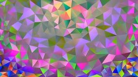 Fundo poligonal cor-de-rosa e azul colorido do sumário do caleidoscópio, tampa, consistindo em uma estrutura dos triângulos Textu Imagens de Stock