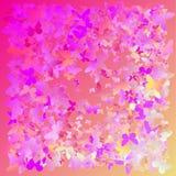 Fundo poligonal cor-de-rosa e azul colorido do sumário do caleidoscópio, tampa, consistindo em uma estrutura dos triângulos Textu Foto de Stock
