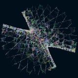 Fundo poligonal da cor abstrata Imagens de Stock Royalty Free