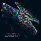 Fundo poligonal do diamont abstrato Fotografia de Stock Royalty Free