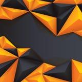 Fundo poligonal do fundo geométrico preto e amarelo Imagens de Stock Royalty Free