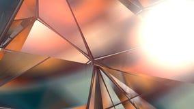 Fundo poligonal geométrico abstrato do movimento Animação dada laços incorporada video rendição 3d filme