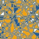 Fundo poligonal geométrico da tecnologia abstrata sem emenda do teste padrão para seu projeto Imagens de Stock