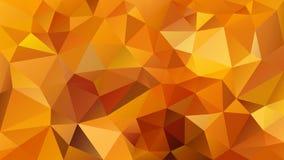 Fundo poligonal irregular do vetor - baixo teste padrão poli do triângulo - cor marrom alaranjada amarela da abóbora de outono da ilustração stock
