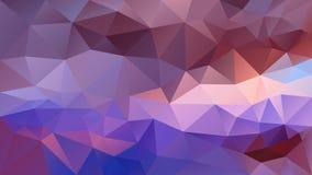 Fundo poligonal irregular do vetor - baixo teste padrão poli do triângulo - roxo, cor violeta, azul, malva, cor-de-rosa ilustração royalty free