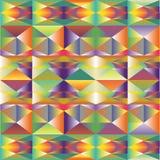 Fundo poligonal multicolour abstrato Fotografia de Stock Royalty Free