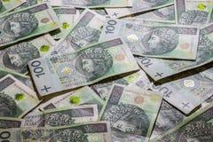 Fundo polonês do dinheiro Fotografia de Stock Royalty Free