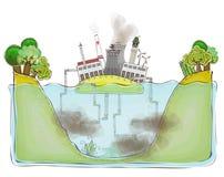 Fundo poluído do ambiente, coleção feliz do mundo Fotos de Stock Royalty Free