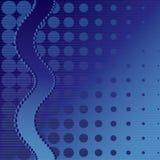Fundo pontilhado azul Imagens de Stock