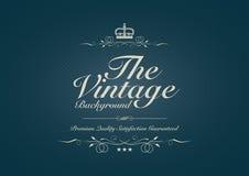 Fundo pontilhado azul do vintage com ornamento Imagens de Stock Royalty Free