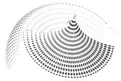 Fundo pontilhado sumário do vetor do círculo Textura do vetor do vintage Efeito de intervalo mínimo ilustração royalty free