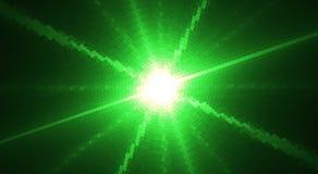 Fundo pontilhado verde com flash Gráficos de vetor Imagem de Stock Royalty Free