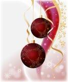 Fundo por o ano novo e para o Natal Imagens de Stock Royalty Free