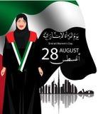 Fundo por ocasião da celebração do dia de Women's do emirado Foto de Stock