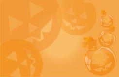 Fundo por um feriado Dia das Bruxas com abóboras de sorriso Fotografia de Stock Royalty Free