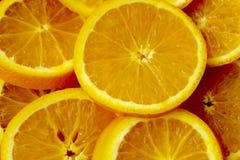 Fundo-prato com fatias alaranjadas de laranja imagens de stock