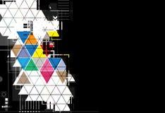 Fundo preto abstrato do negócio da tecnologia do triângulo Foto de Stock