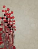 Fundo preto bege vermelho abstrato Imagem de Stock
