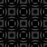 Fundo preto & branco claro geométrico decorativo sem emenda abstrato do teste padrão foto de stock
