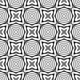 Fundo preto & branco claro geométrico decorativo sem emenda abstrato do teste padrão foto de stock royalty free