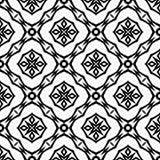 Fundo preto & branco claro geométrico decorativo sem emenda abstrato do teste padrão imagem de stock royalty free