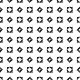 Fundo preto & branco geométrico floral sem emenda decorativo do teste padrão ilustração royalty free