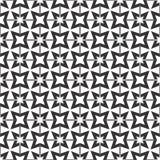 Fundo preto & branco geométrico floral sem emenda decorativo do teste padrão fotografia de stock
