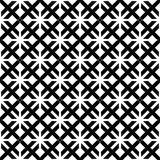 Fundo preto & branco geométrico floral sem emenda decorativo do teste padrão Imagem de Stock