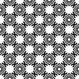 Fundo preto & branco geométrico floral sem emenda decorativo do teste padrão foto de stock royalty free