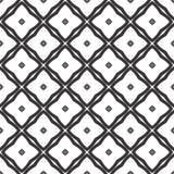 Fundo preto & branco geométrico floral sem emenda decorativo do teste padrão Imagem de Stock Royalty Free