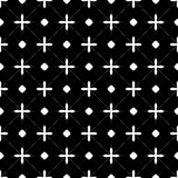 Fundo preto & branco geométrico floral sem emenda decorativo do teste padrão Fotografia de Stock Royalty Free