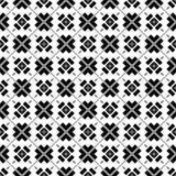 Fundo preto & branco geométrico floral sem emenda decorativo do teste padrão Imagens de Stock